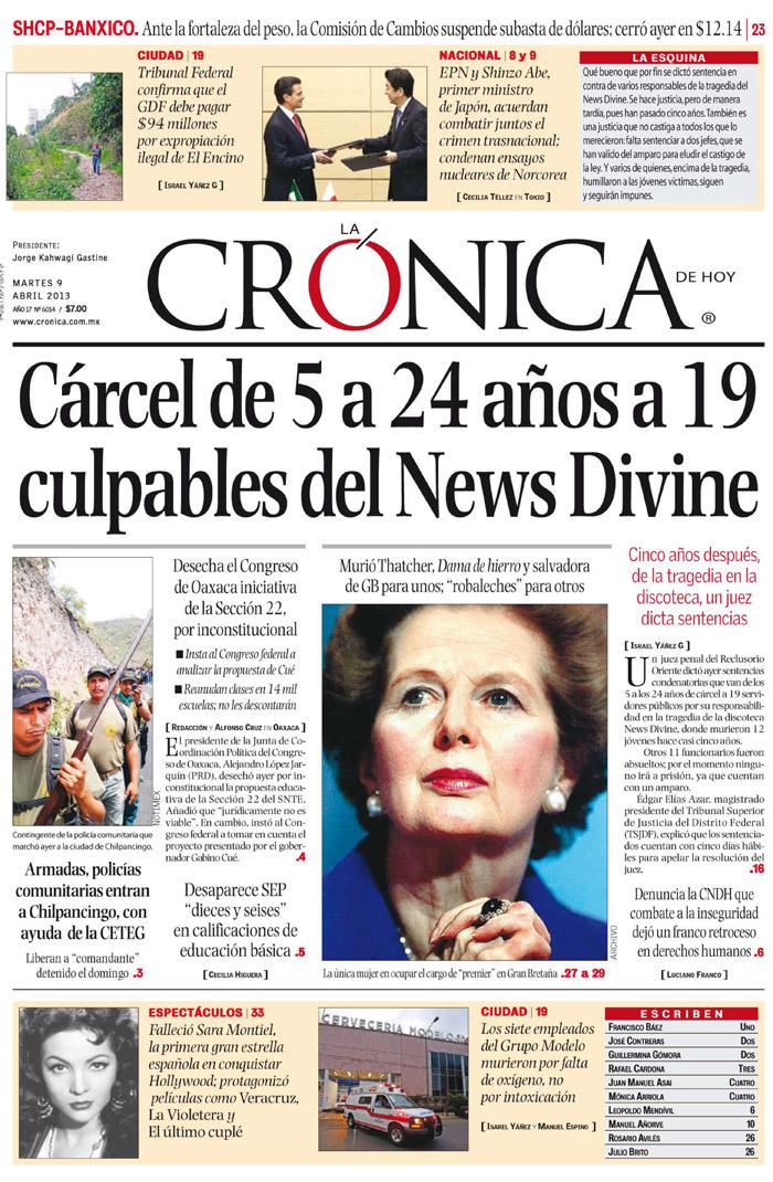 Primeras planas for Diarios del espectaculo